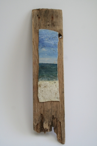 Ceramic on Driftwood